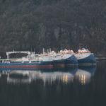 Western Geco Tasman og Triton ankom juli/august 2014. LOM AS hadde diverse serviceoppdrag. Båtene lå med mannskap, så vi hadde ikke vakt og ettersyn på disse.