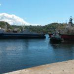 08.06.2015: Da går Northwest Searcher ut fra opplag og forlater Lyngdal.