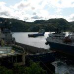 20.07.2015 kom Sea Falcon inn, og man åpner opp i rekken for å gjøre plass til den. LOM AS har nå vakt og ettersyn på den.